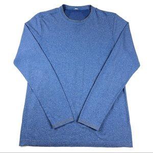 Lululemon Metal Vent Tech Long Sleeve Shirt M Blue